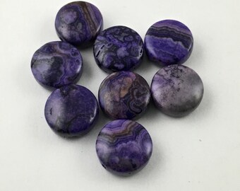 8 purple crazy lace agate stone beads/ 23 mm   #PP219