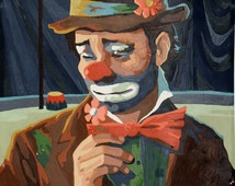A Pair of Emmett Kelly Clown Paint by numbers