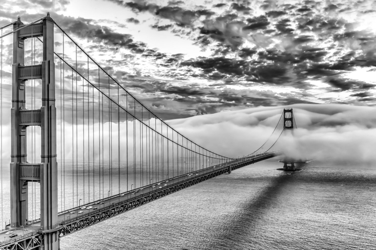 Printable coloring pages golden gate bridge - Black And White San Francisco Print Art Black And White Romantic Golden Gate Bridge Photography Beautiful Sunset Picture In Monochrome