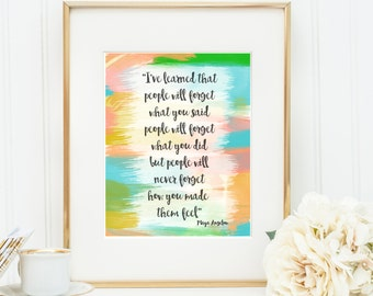 Maya Angelou quote- Inspirational quote- Always remember-instant download