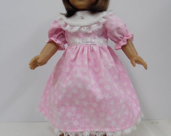 American Girl Long Pink Dress with Headband