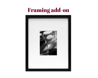 ADD FRAMING - 11x14 Gallery Frame with Mat - Fits sizes 4x6, 5x7, 8x10, and 8.5x11 prints.