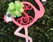 Flamingo Fancy Monogram || Custom Wooden Monogram || Single Vine Door Decor || Initial Door Hanger || Ready for SUMMER!