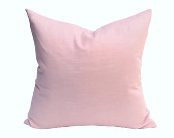 Blush Pink Linen Designer Pillow Cover - Choose Your Size
