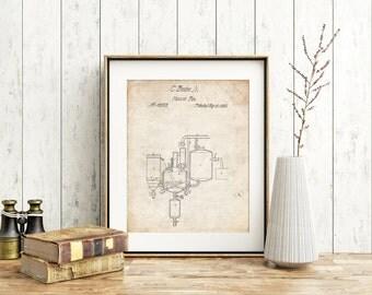 Pasteurized Milk Patent Poster, Dairy Farm, Farm Print, Barn Decor, Farmhouse, Industrial Art, PP0256