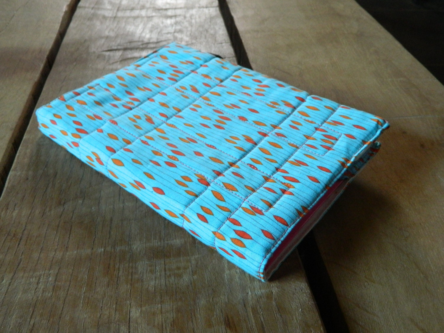 Removable Fabric Book Cover ~ A notebook cover journal diary removable