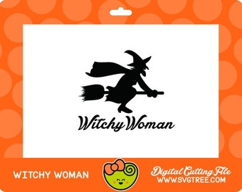 Witchy Woman Halloween SVG Witch SVG Commercial Free Cricut Files Silhouette Files Digital Cut Files svg cut files vector art