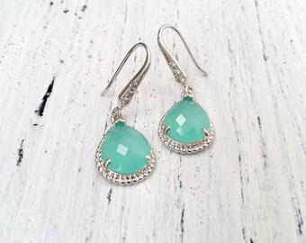 Mint Wedding Jewelry Earrings Bridesmaid Jewelry Set Bridesmaid Gift