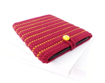 Golden Raspberry ereader cover, Kindle Oasis case, red Kobo Glo sleeve, Kindle Voyage cover, Onyx BOOX Carta 2 sock, Nook Simple Touch cozy