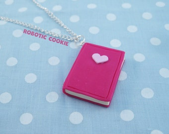 Book of Love Spells Necklace polymer clay