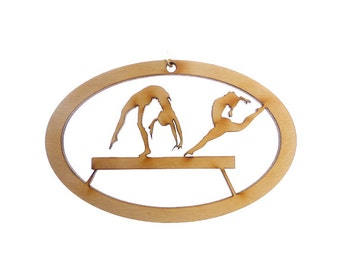 Gymnast Ornament, Balance Beam - Gymnast Gift - Gymanst Ornaments - Gymnastics Gift - Gymnastics Ornaments - FREE PERSONALIZATION