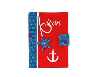 Protects custom health first name baby book sailor boy