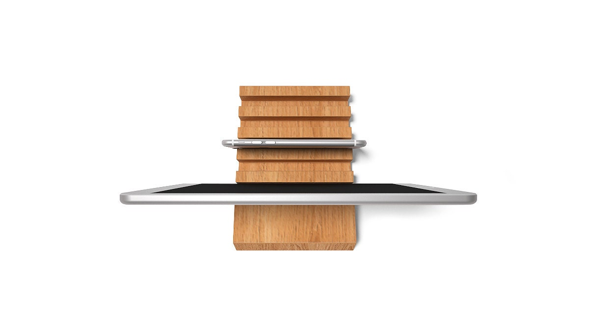 wooden multiple charging station for ipad iphone kindle