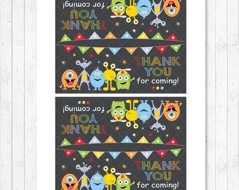 Monsters Favor Bag Labels, Monsters Topper Label, Monsters Birthday Decoration,, INSTANT DOWNLOAD