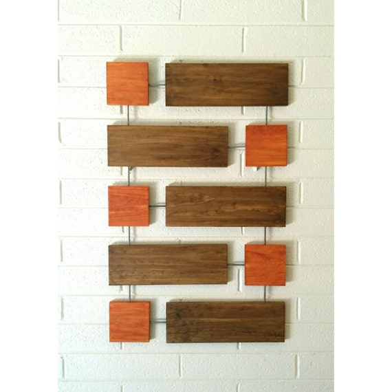 Cy wall sculpture wood wall art mid century modern by - Mid century modern wall decor ...