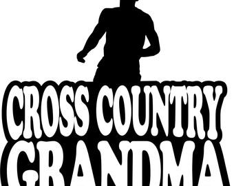 Cross Country Grandma Hoodie/ Cross Country Grandma Sweatshirt/ Cross Country Grandma/ Boy Runner Cross Country Grandma Hoodie Sweatshirt