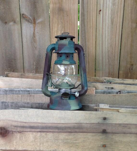Camo Railroad Lantern Rustic Home Decor Camo By