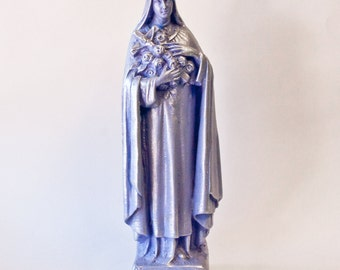 Lavender St Therese of the Little Flower statue - Religious