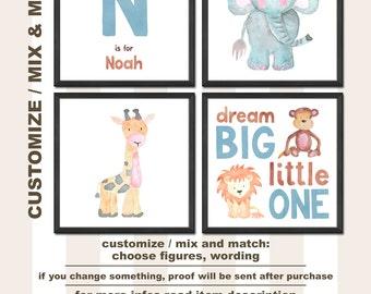 jungle nursery prints, safari nursery art, safari baby nursery decor, safari animal nursery decor, watercolor nursery animals, jungle baby