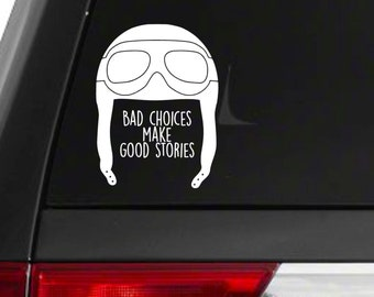 Aviation // Flying // Car Decal // Pilot Decal // airplane decal / flying bumper sticker / bad choices make good stories bumper sticker