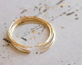 thin gold cuff, gold bracelet, dainty gold bracelet, gold open bracelet, sterling silver, simple bracelet