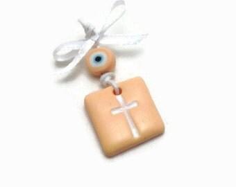 Baptism Favors, Witness Pins, Cross Charms, Girl Baptism, Evil Eye Martyrika, Baby Shower Favours, Baby Shower Souvenris, Pack of 20, 40, 60