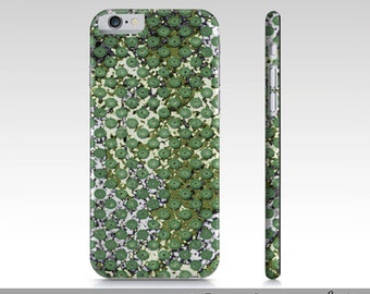Funky Green iPhone 6 Case, Funky Green Pattern Print iPhone 6 Case, Cute Patterned Case For iPhone 6, iPhone 6 Accessories, Purple Pink Case