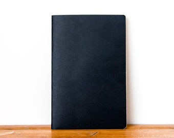 A5 Black Kraft Notebook