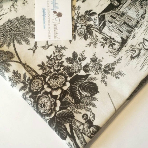 Black And White Toile Rug: Black And White Toile Fabric, Beatiful French Country