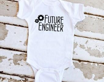 Future Engineer Onesie - White