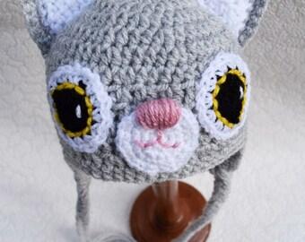 Crochet baby hat, Cat hat, Newborn photo prop, newborn/baby hat, baby boy, baby girl, newborn prop, animal hat