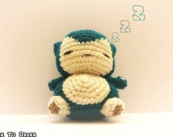 Crochet Snorlax Inspired Chibi Pokemon