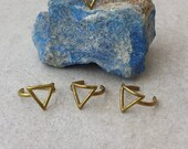 Triangle Brass Ring, Boho Adjustable Ring, Geometrical Midi Ring