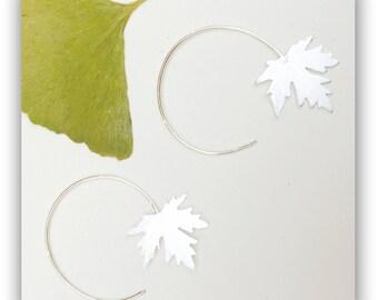 earrings lateral platanaceae leaf