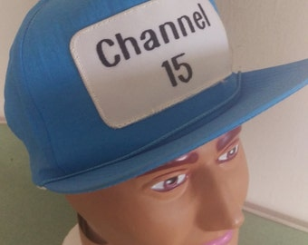 Vintage 80's Nylon Channel 15 Hat