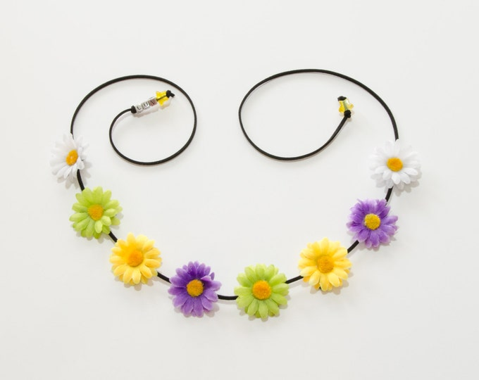 Mardi Gras Daisy Flower Crown