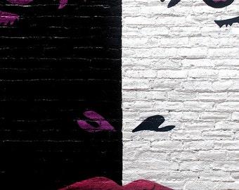 black And White Lady, Urban Art, Street Photography, Urban Photography, Street Art
