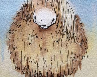 Pippa the Pony - Original watercolour painting