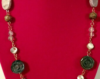 Earthy Necklace And Bracelet Set