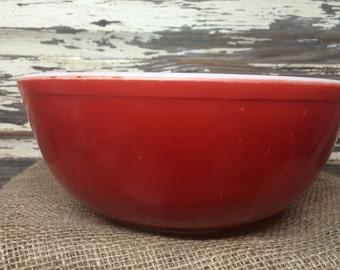 Vintage Pyrex Red 4 Qt Mixing Bowl