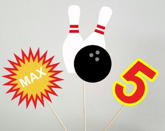 Bowling Centerpieces, Bowling Birthday Centerpieces, Bowling Party Centerpieces