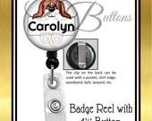 Custom Badge Reel, Personalized Dog Badge Reel, Veterinary Reel, Retractable Badge Reel, Animal Badge Reel, BRA002