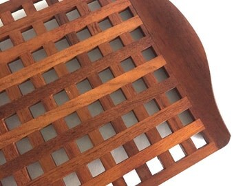 Large Dansk Teak Lattice Serving Tray Designed by Jens Quistgaard