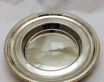 """Vintage Towle Silverplated Nut Bowl Candy Serving Dish - 7"""" Diameter"""