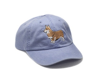 Corgi embroidered hat, baseball cap, dog lover gift, pet mom cap, dad hat, mom, dog agility, dog lover hat, embroidery, pembroke, welsh