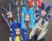 Navy Blue Suspenders, Navy Blue boy suspenders, Navy Blue Supenders, Navy Blue toddler suspenders, Navy Blue Suspenders, Navy Blue, Navy