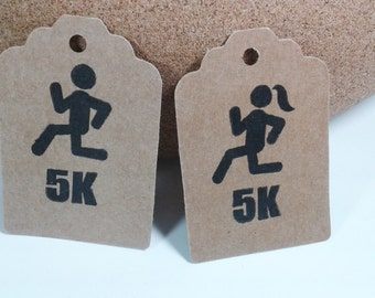 5k Gift Tags, Male and Female Assorted Tags on Kraft Paper, Set of 10