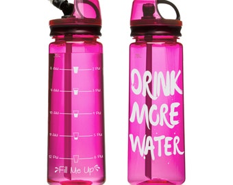 Drink More Water Fitness Water Bottle Tracker  SVG, DXF, EPS Cut file,  Fitness Qoutes,  Printable, Cricut ready,