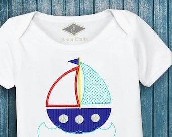 50% OFF Cute Boat | Sailing Design | Machine Embroidery Applique Design 4 Sizes
