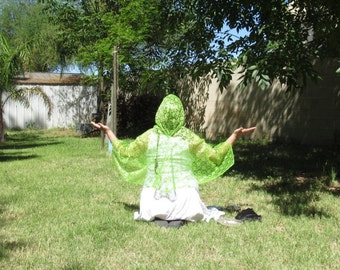 Lime Green Prayer Cape